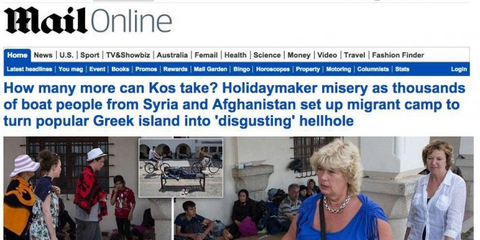 Backlash Over Daily Mail Coverage of Greek Island Crisis