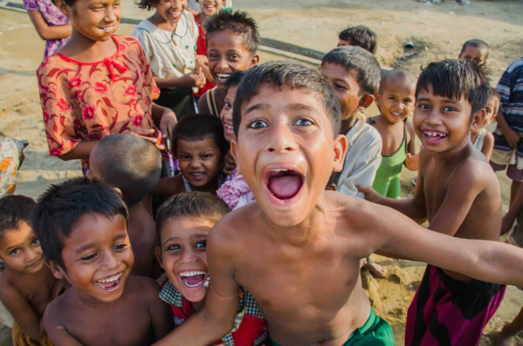 Rohingya children at Say Tha Mar Gyi IDP camp, near Sittwe, Myanmar, on May 26, 2015 (Alex Bookbinder).