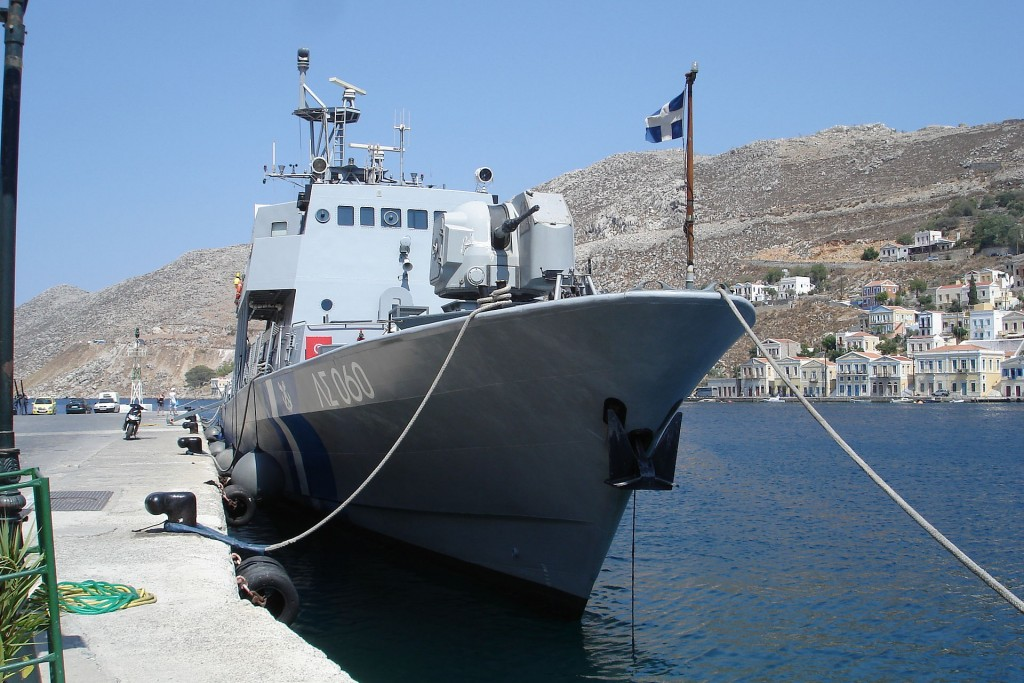 The shots were fired during a scuffle between Greek border guards and the presumed Turkish people smugglers.