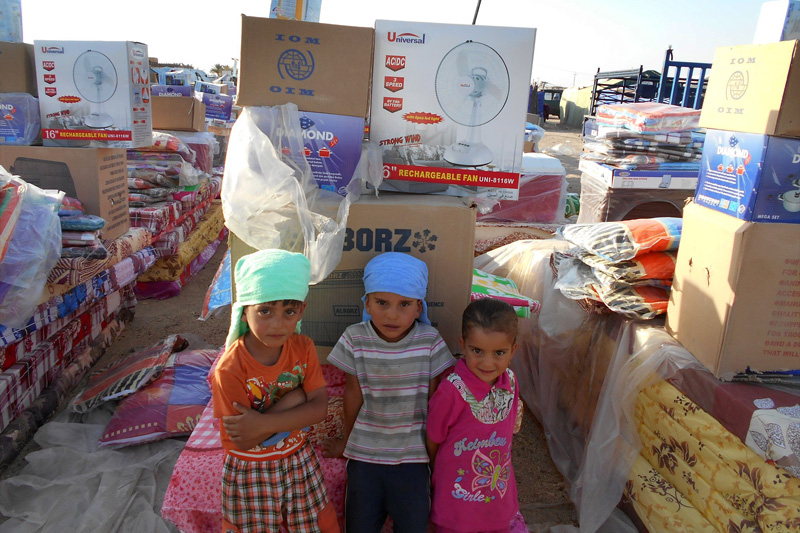 IOM Distributes aid in Al Anbar governorate Iraq - Photo: IOM