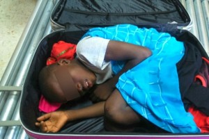 Ivorian suitcase boy