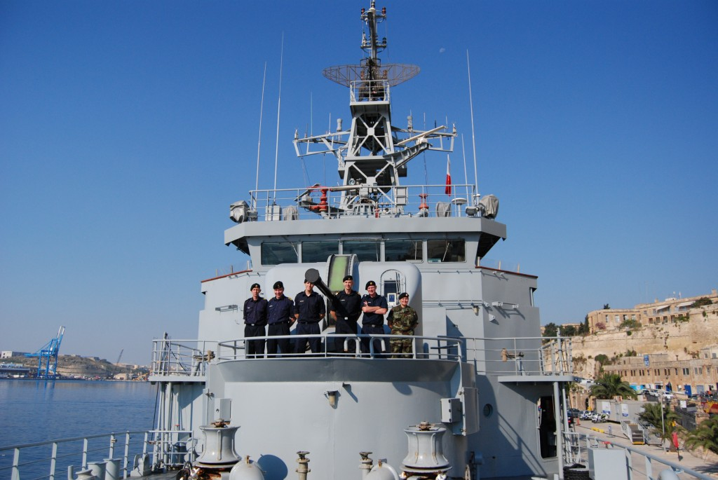 The Irish navy vessel L.E. Ethne has been on a two-month tour of duty in the Mediterranean in which it rescued more than 3,000 migrants. Photo: Mark Zammit cordina