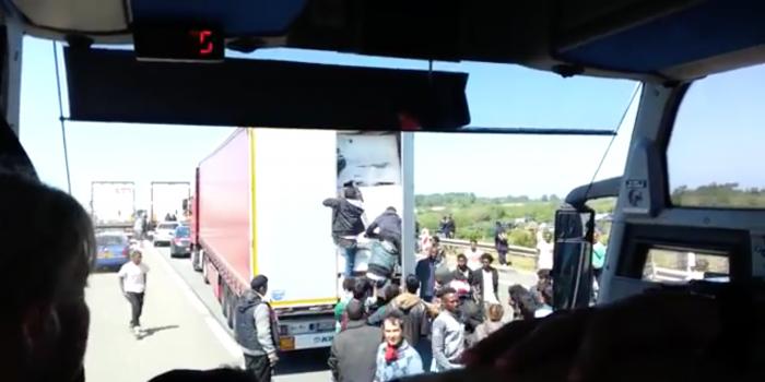 Calais Chaos Caught on Film