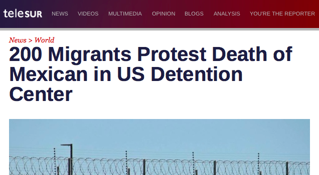 200 Protest Death of Mexican in Arizona Detention Center