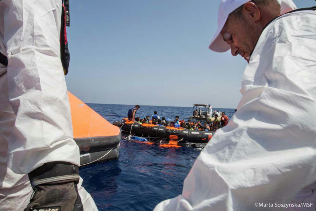Search operations are ongoing but few are hopeful that more survivors will be found. Photo: Marta Sozyinska / MSF