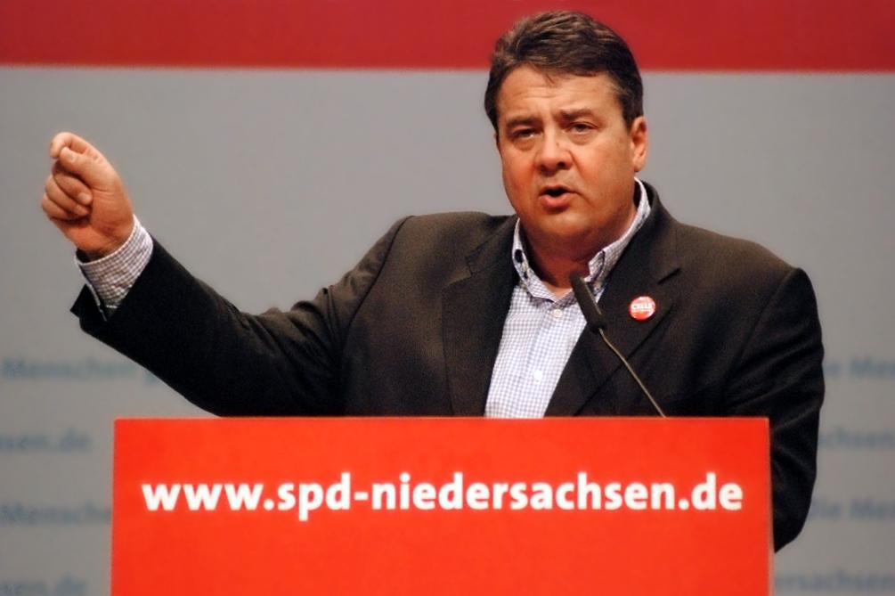 Germany's Vice-Chancellor Sigmar Gabriel.